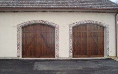 Double single overhead doors without windows