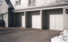 2 panel garage door without windows