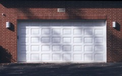 Normal panel garage door white