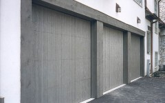 Contemporary residential garage door without windows 7