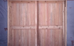 cedar panel door witout windows