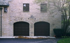 Dark Panel Garage Doors - Black