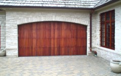 Double Wide Overhead Door - Dark Wood