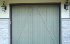 Overhead Doors - Light Green
