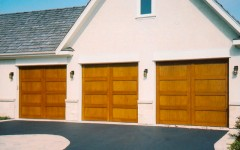 Garage Doors - Light Wood