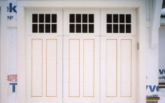 Contemporary residential panel door with windows white