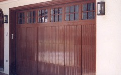 Custom overhead panel door with windows