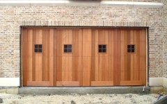 Contemporary Custom Panel Garage Door w single windows