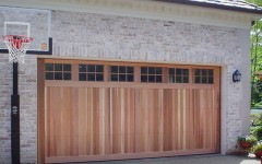 Custom Panel Garage Door - wood with windows 2