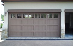 Custom Panel Garage Door - Gray with Windows