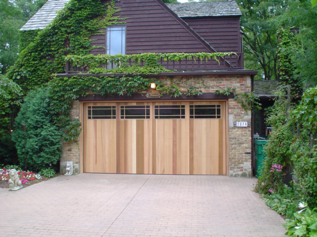 Contemporary Garage Door Design W Windows 2