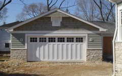 Custom Panel Garage Door - white