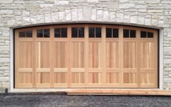 Arched Double Wide Garage Doors with windows