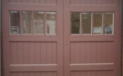 Arched Garage Doors with Windows - Brown
